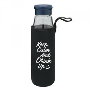 Portable Glass Water Bottle With Protective Bag 570ml