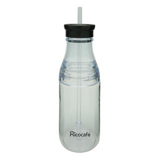 Tritan Single Wall Bottle with Straw