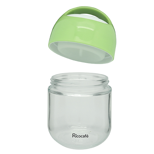 Portable Glass Salad Container with Sauce Box 420ml
