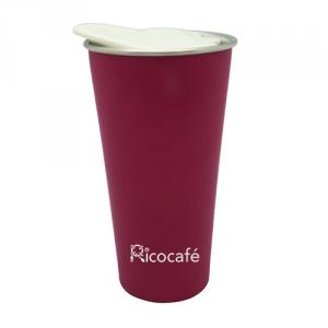 Travel Double Wall Stainless Steel Mug With Lid 450ml