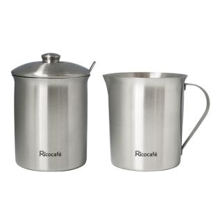 Stainless Steel Milk & Sugar Bowl Set 350ml