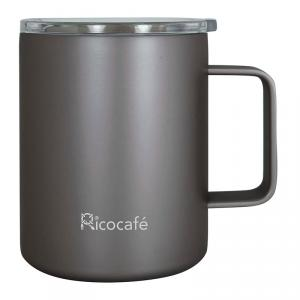Stainless Steel Vacuum Coffee Mug 350ml Black Rose Gold