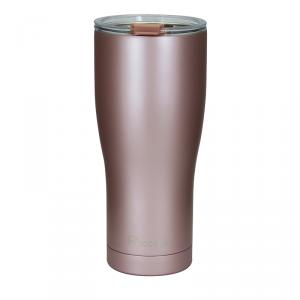 Stainless Steel Vacuum Coffee Mug 20oz Black Rose Gold