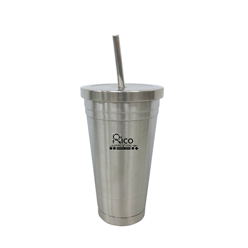 Stainless Steel Vacuum Mug with straw