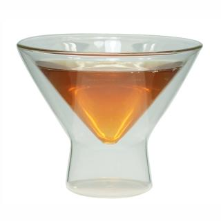 Double Wall Glass Martini Cup