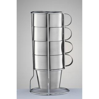 Stainless Steel Double Wall Mug with Stand