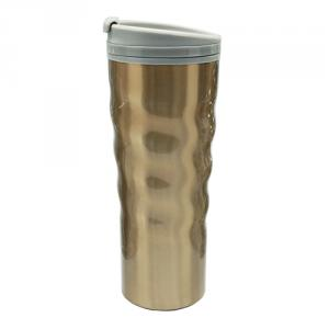 Golden Desert Curved Stainless Steel Double Wall Coffee Mug
